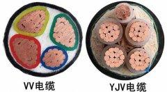 VV电缆和YJV电缆的区别是什么?包括电缆外观和寿命及电缆工作温度